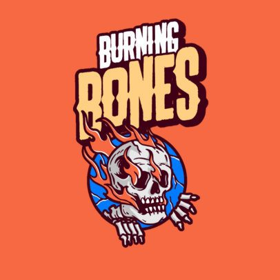 Streetwear Logo Creator with a Burning Skeleton Emblem 3492l