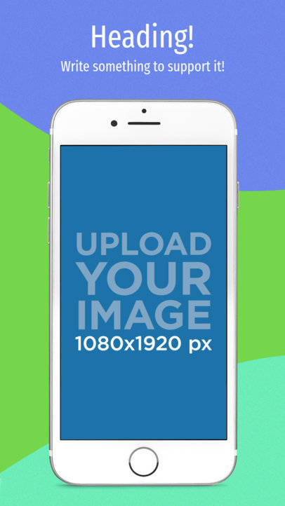 App Store Screenshot Builder iPhone 7 On Portrait Position