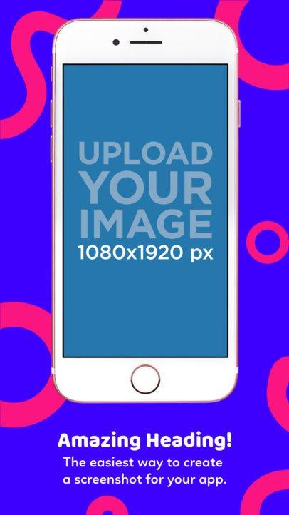 Pink iPhone 7 iOS Screenshot Builder 1311a