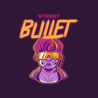 Cyberpunk-Inspired Logo Maker for Gamers 3522