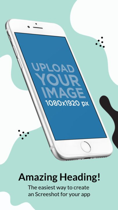 Angled iPhone 7 Floating iOS Screenshot Builder