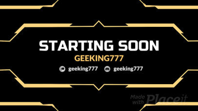 Twitch Starting Soon Screen Video Maker with Hexagonal Graphics 760