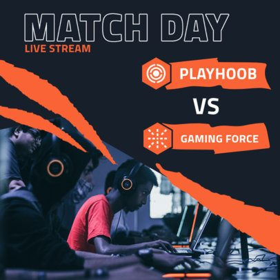 Gaming Instagram Post Maker for Live Matches 2451-el1
