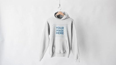Video Mockup Of Pullover Hoodie In A Hanger Against White Background a13143