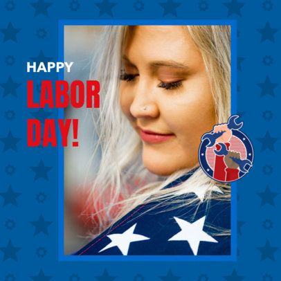 Patriotic Instagram Post Maker to Celebrate Labor Day 2777b