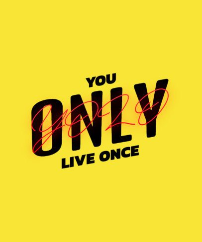 T-Shirt Design Creator Featuring a YOLO Text with Mixed Typefaces 2771i