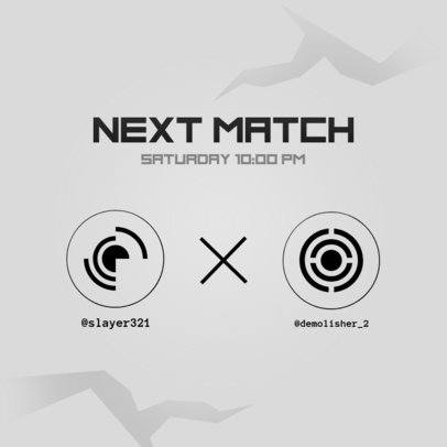 Modern Instagram Post Generator to Advertise a Livestream Match 2452c-el1