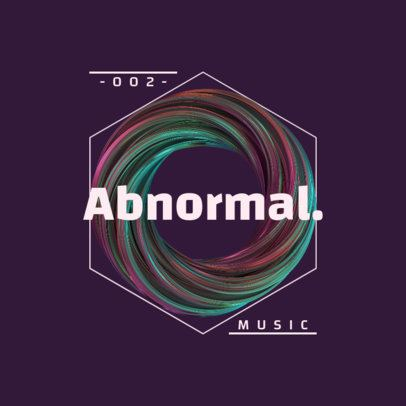 Music Logo Maker Featuring a Spiral 3D Graphic 2437b-el1
