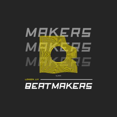 Logo Creator for a Beatmaker Featuring an Abstract Graphic with an Optical Illusion Effect 2442d-el1