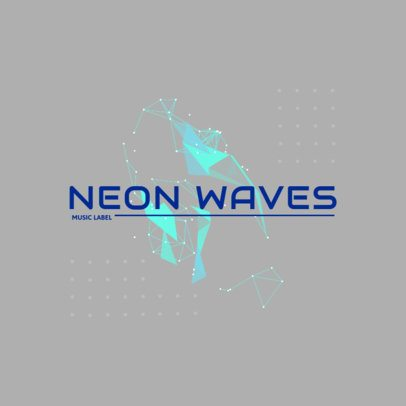 Music Logo Maker with Neon-Colored Abstract Shapes 2436a-el1