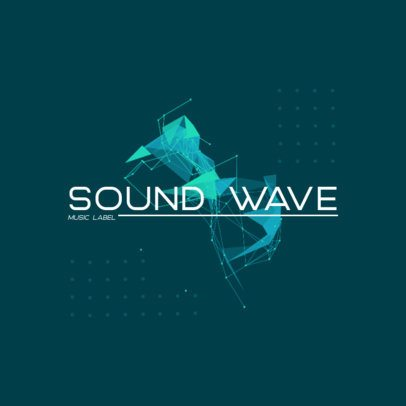 Music Logo Template with an Abstract Graphic of Vectors 2436e-el1