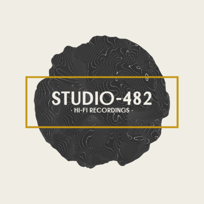 Logo Template for Music Studios Featuring an Abstract Form 2438c-el1