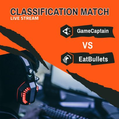 Instagram Post Maker for a Match Between Two Gaming Teams 2451d-el1