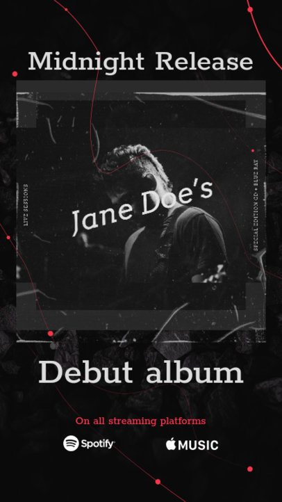 Instagram Story Generator for a New Musician's Debut Album 2776d