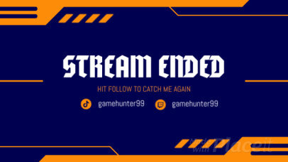 Twitch Stream Ended Screen Video Maker with Tech Graphics 762