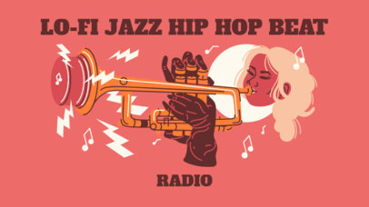 YouTube Thumbnail Generator Featuring an Illustration of a Female Trumpeter 2773d