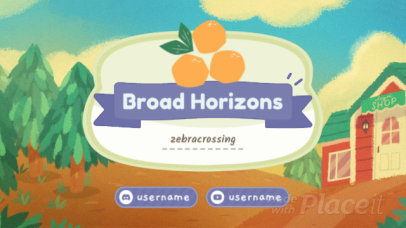 Animal Crossing-Inspired Twitch Banner Video Maker 172