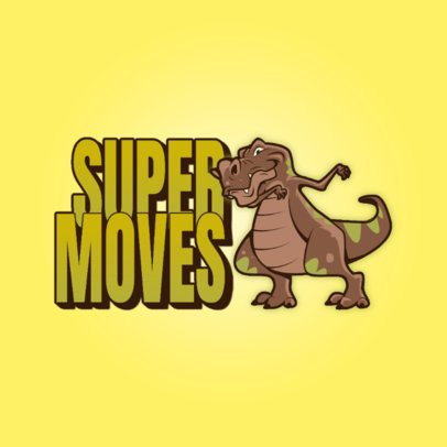 Gaming Logo Creator Featuring a T-Rex Dancing 3259i