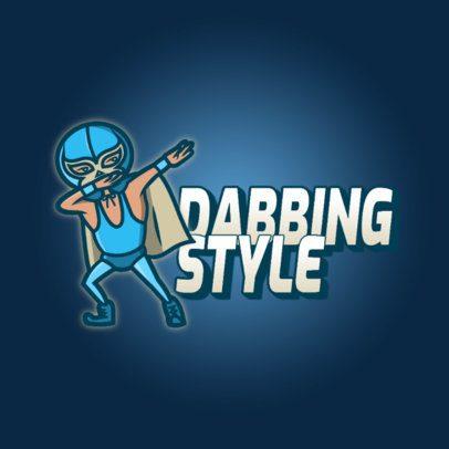 Logo Maker Featuring a Luchador Doing a Dab 3529e