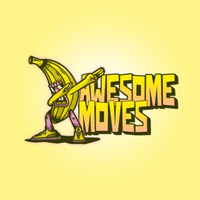 Logo Creator for a Clothing Brand Featuring a Dancing Banana 3259l