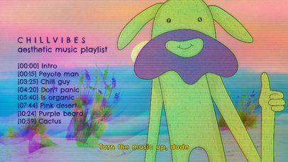 YouTube Thumbnail Maker with a Cartoonish Illustration for a Music Playlist 2774a
