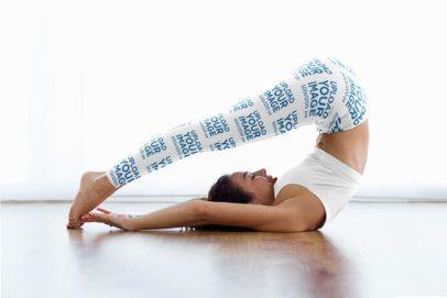 Leggings Mockup Featuring a Woman Happily Doing Yoga 34854-r-el2