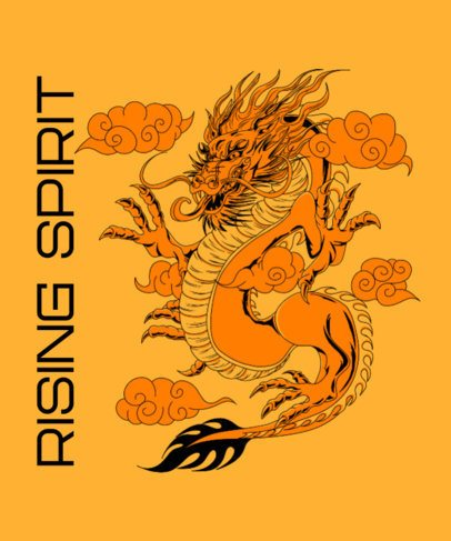 Dragon-Themed T-Shirt Design Creator with a Traditional-Style Illustration 2780b