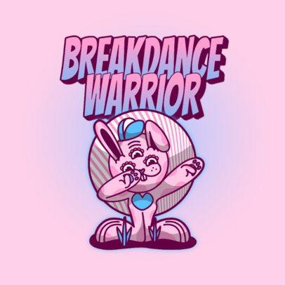Logo Maker Featuring an Alien Bunny Dabbing 3259o