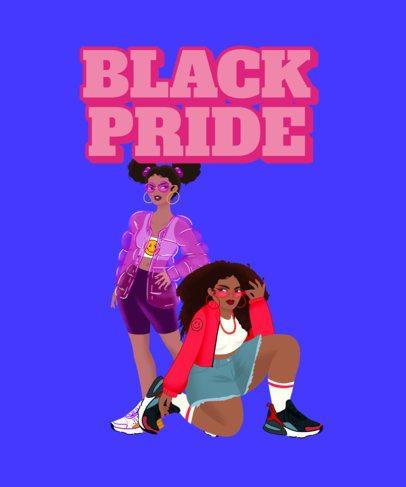 T-Shirt Design Maker with a Black Pride Theme 2800