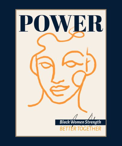 T-Shirt Design Maker with a Quote About Black Women Power 2476a-el1