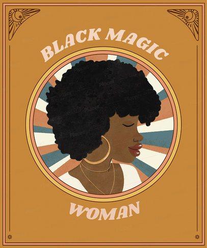 T-Shirt Design Maker Featuring Proud Black Character Illustrations 2801