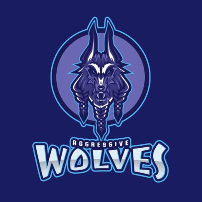 Mobile Legends Style Gaming Logo Maker with a Wolf Illustration 2455d