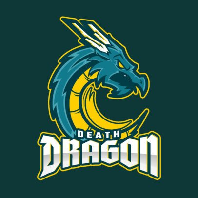 MLBB-Inspired Fantasy Logo Template with a Deadly Dragon Graphic 2455hh-2861