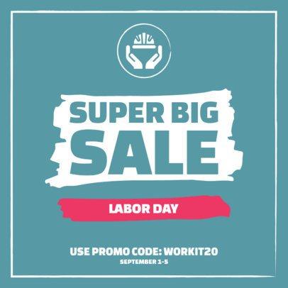 Simple Instagram Post Maker for a Super Sale for Labor Day 2469d-el1