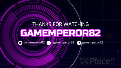 Twitch Banner Video Maker for a Gaming Profile Featuring a Message 376