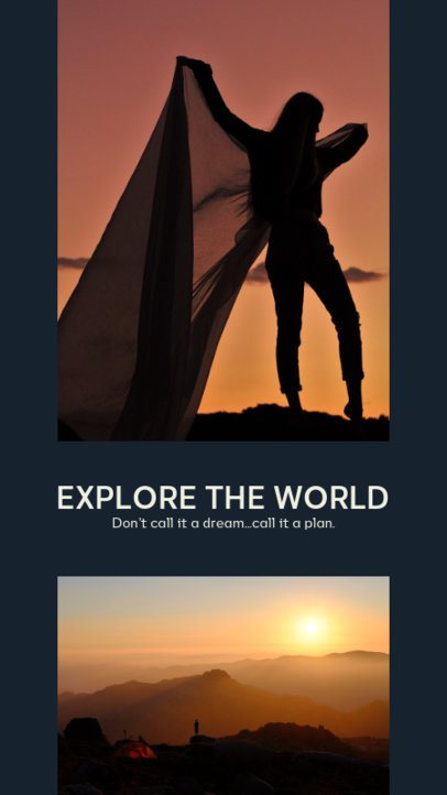 Instagram Story Maker Featuring Travel-Themed Photographies 2485c-el1