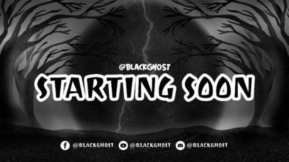 Twitch Starting Soon Screen Design Maker for Horror Game Streamers 2796h