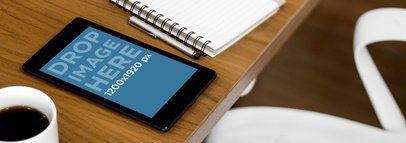 Nexus 7 Portrait Wooden Desk Business Environment Wide