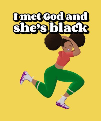 T-Shirt Design Maker with an Illustration of a Black Woman 2800a