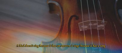 Music-Themed Facebook Cover Template Featuring a Vintage Film Filter and a Quote 2794i