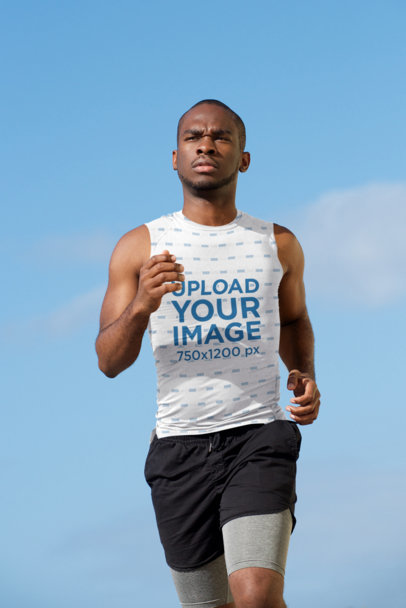 Mockup of a Runner Wearing a Sublimated Tank Top 38842-r-el2