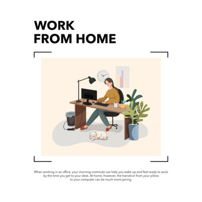 Instagram Post Design Templates with Suggestions to Work From Home 2588-el1