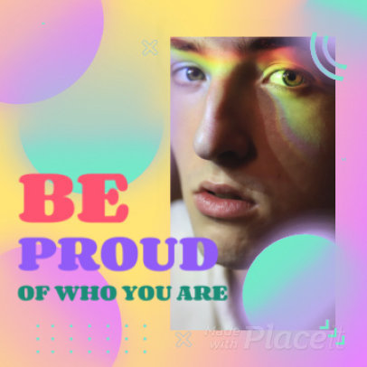 Instagram Post Video Maker with Colorful Bubbles and a Proud Quote 2173
