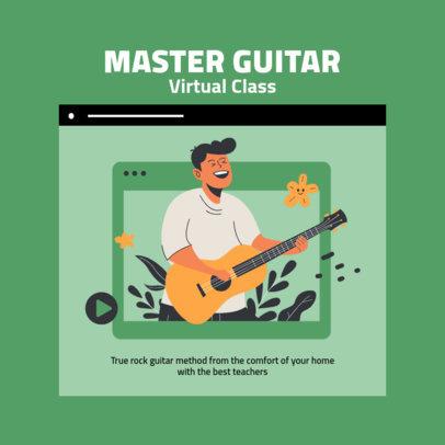 Instagram Post Creator Featuring a Guitar Virtual Class Graphic 2585a-el1