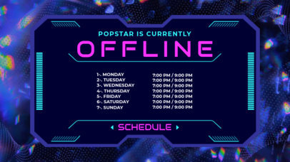 Twitch Banner Maker For a Popstar's Streaming Schedule 2812a