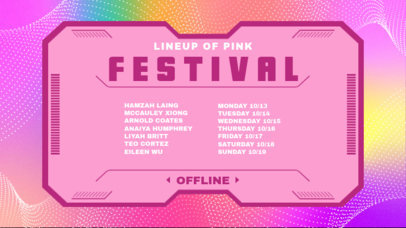 Twitch Banner Creator for a Girly-Style Festival 2812g