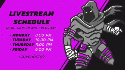 Gaming Twitch Banner Maker Featuring a Live Stream Matches Schedule 2811f