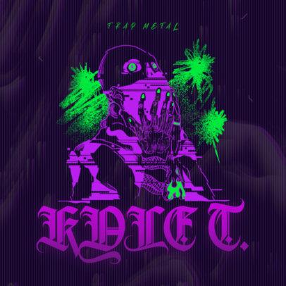 Dark Album Cover Maker for Trap Metal Music 2818g