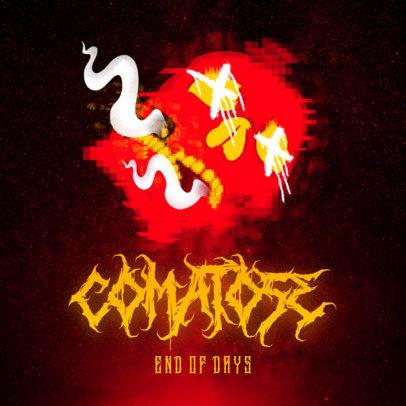 Album Cover Design Creator with a Smoking Skull Graphic 2818f