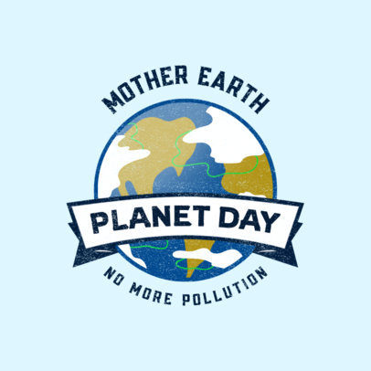 Logo Maker with an Earth Graphic for a Save the Planet Awareness Day 3575f